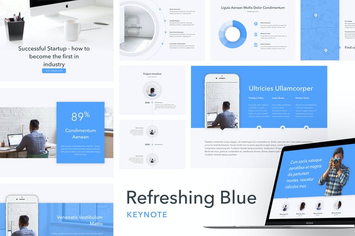 Thumbnail for Refreshing Blue Keynote Template