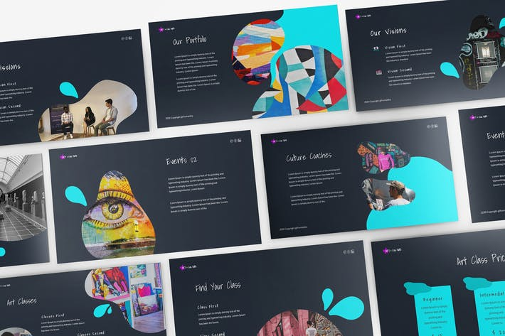Thumbnail for Art Gallery Powerpoint Template