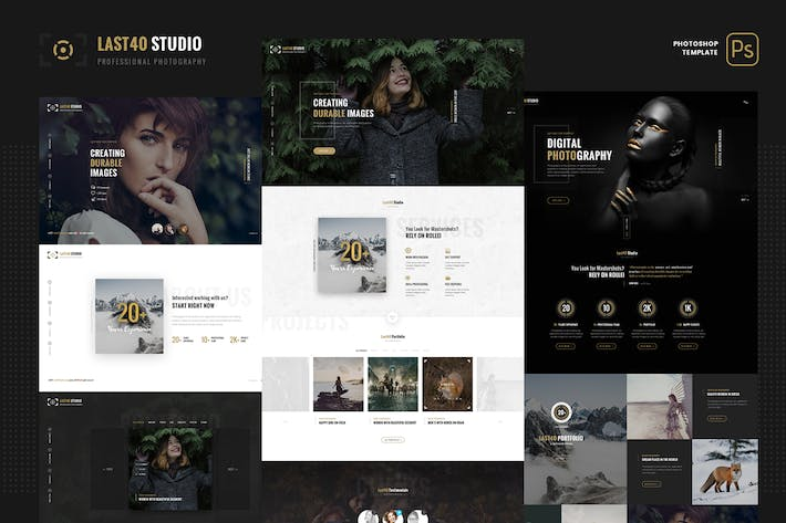 Cover Image For Last40 Studio - Creative Portfolio PSD Template