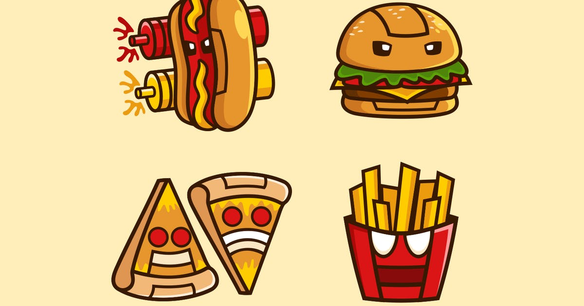 Download Fast Food Robot Cartoons collection by Rexcanor