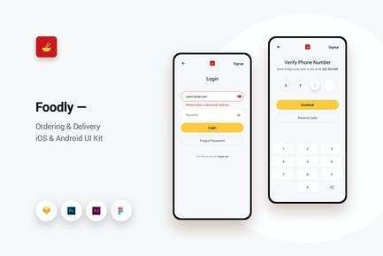 Foodly - Ordering Delivery iOS & Android UI Kit 7