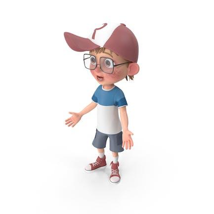 Cartoon Boy Stunned