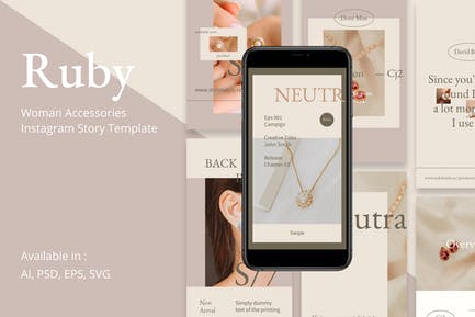 Ruby - Frauen Accessoires Instgram Story Vorlage