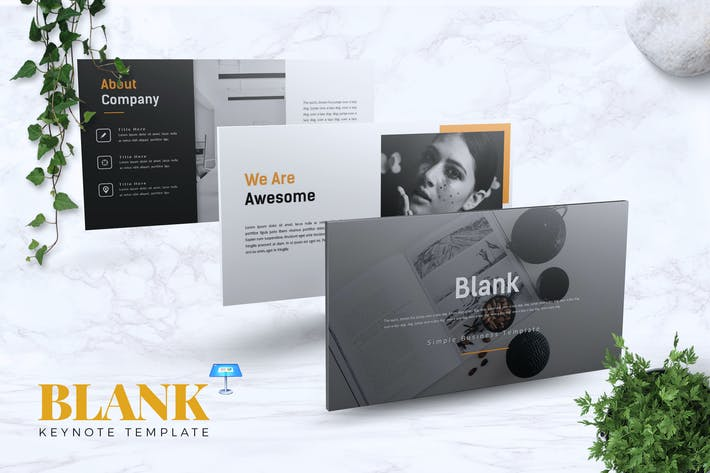 Cover Image For BLANK - Creative Keynote Template
