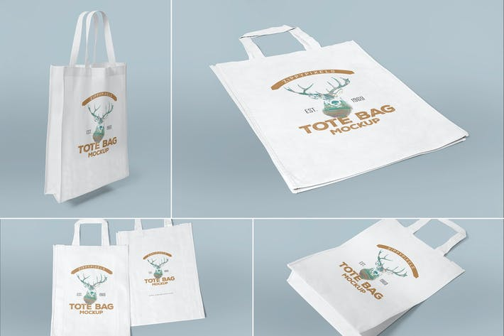 Cover Image For 4 Tote Bag Mockups