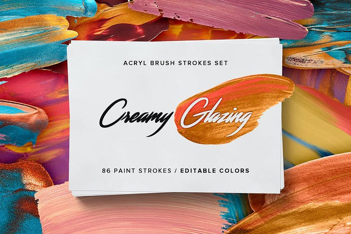 Thumbnail for Creamy Glazing - Acryl Brush Strokes