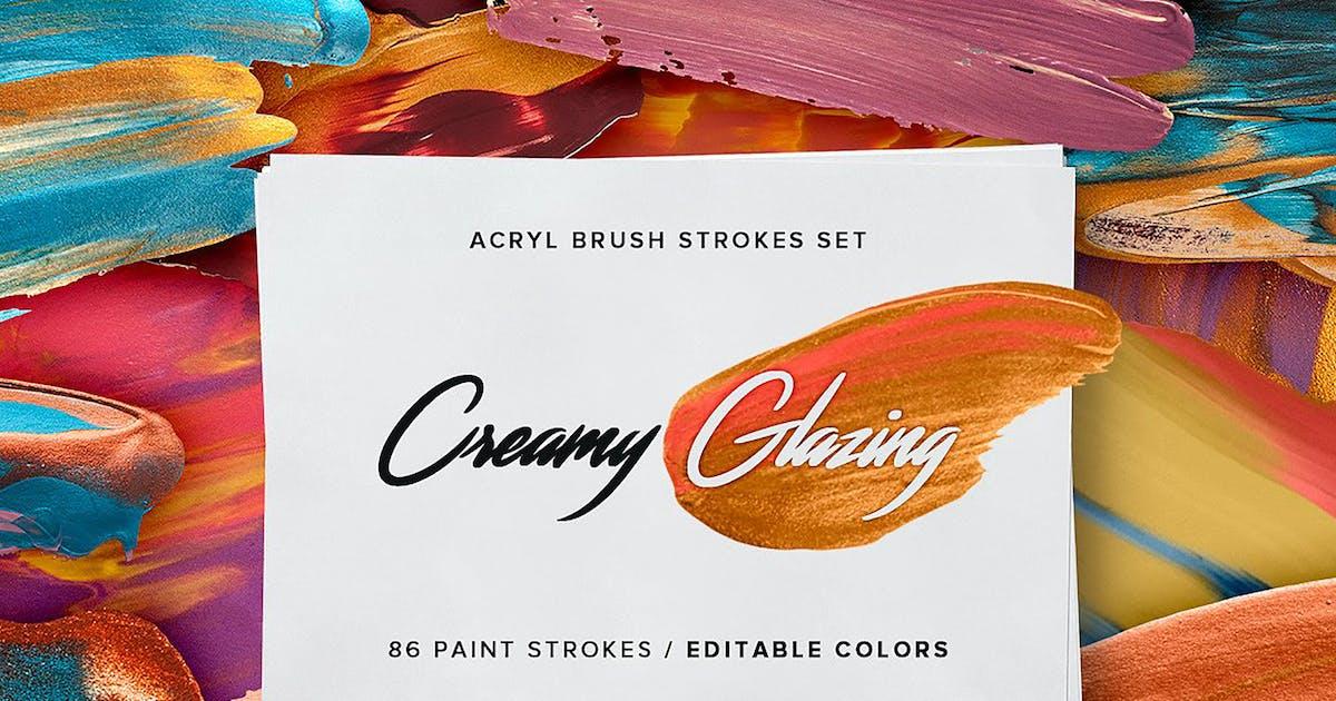 Download Creamy Glazing - Acryl Brush Strokes by Oxana-Milka