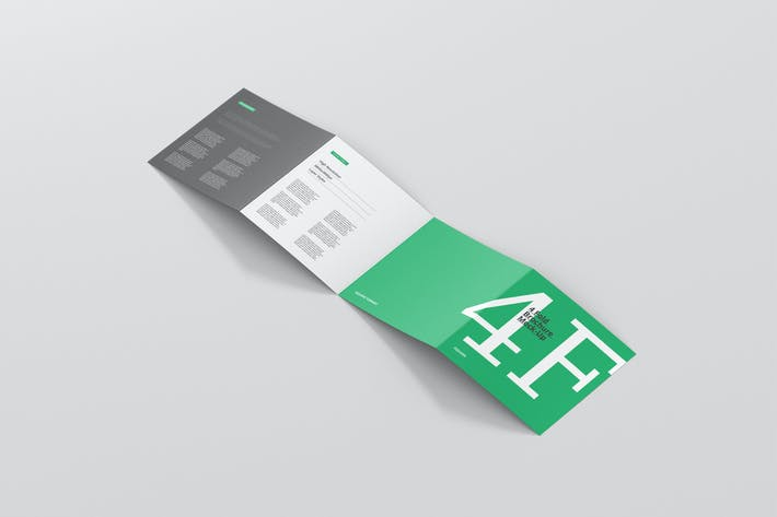 Cover Image For 4 Fold Brochure Mockup