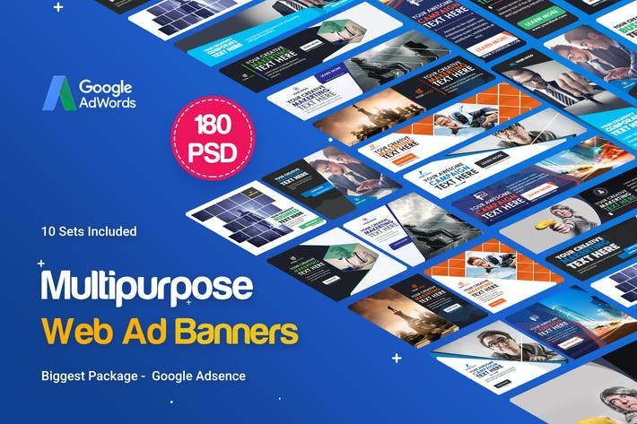 Thumbnail for Multipurpose Banners Ad - 180PSD [ 10 Sets ]