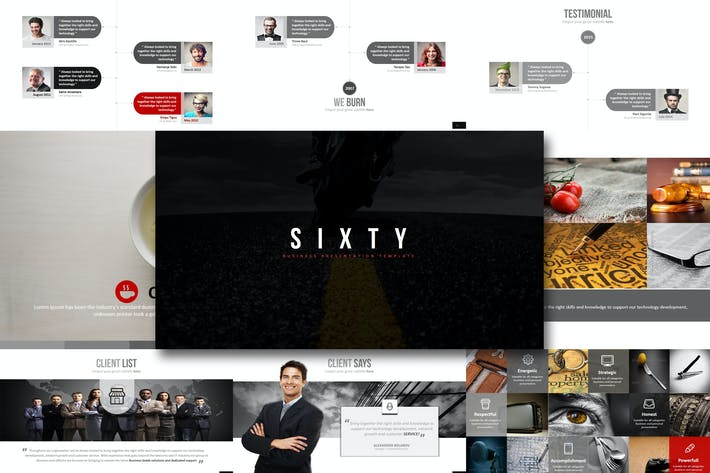 Cover Image For Sixty - Powerpoint Template