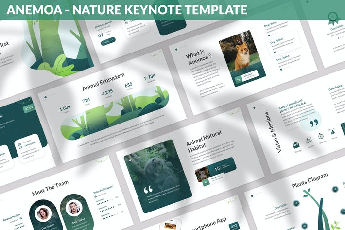 Thumbnail for Anemoa - Nature Keynote Template
