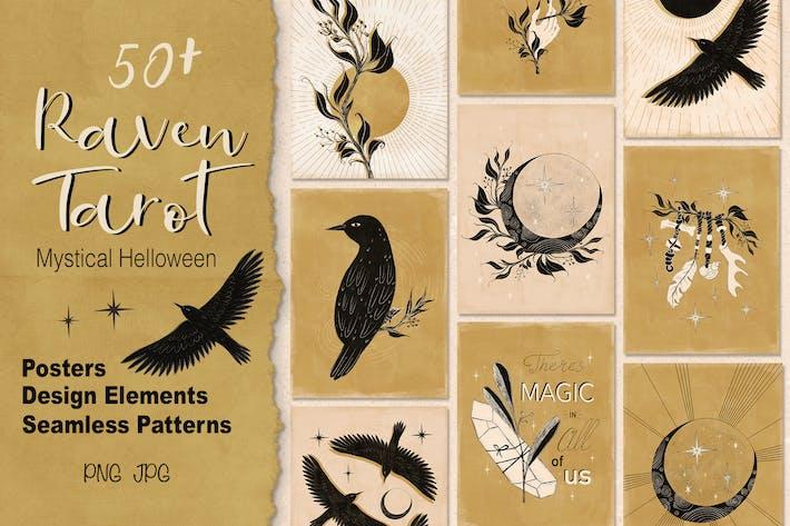 Raven TArot Mystical Halloween