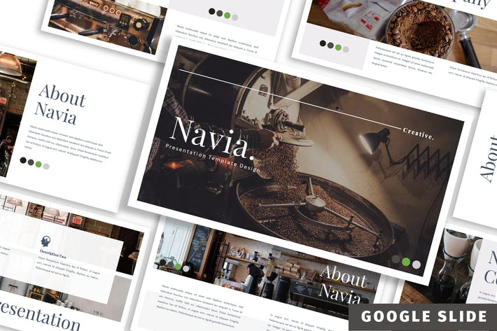 Thumbnail for Navia - Кофе Google слайд Шаблон