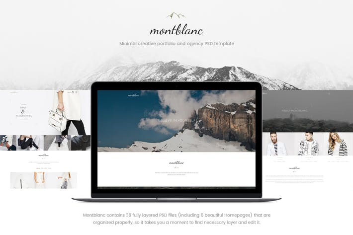 Thumbnail for Montblanc - Minimal Creative PSD template