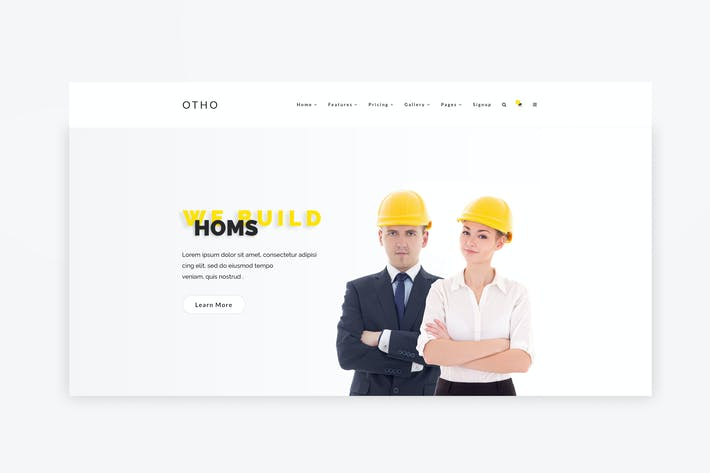 Thumbnail for Web Hero Header Template