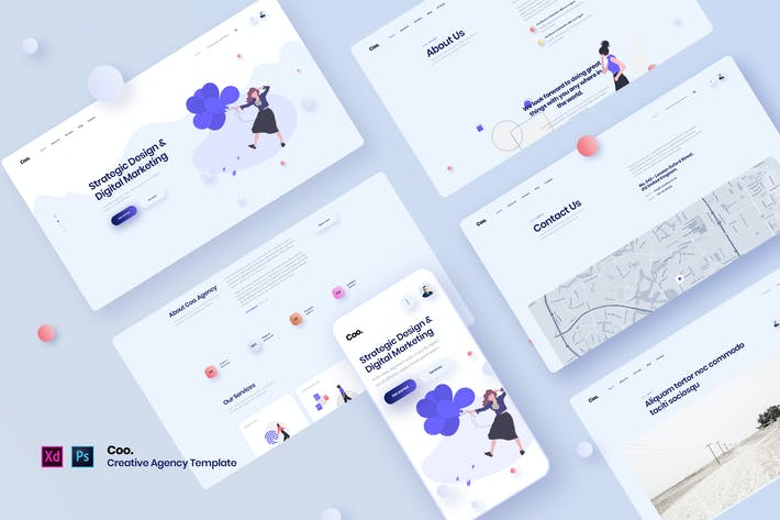 Thumbnail for Coo. - Creative Agency Template