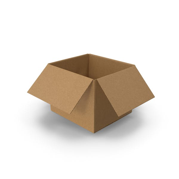 Открытая картонная коробка