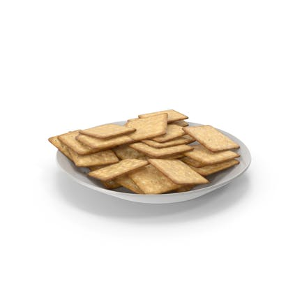 Plate with Square Crackers