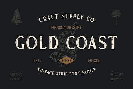Gold Coast - Vintage Serif Font Family