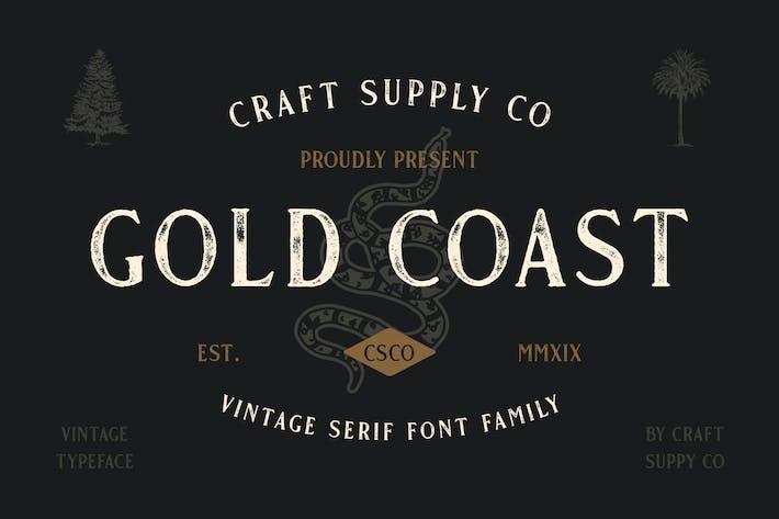 Gold Coast - Familia tipográfica Vintage Con serifa