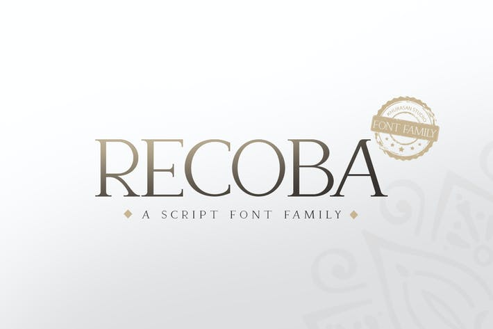 Thumbnail for Recoba Font Family