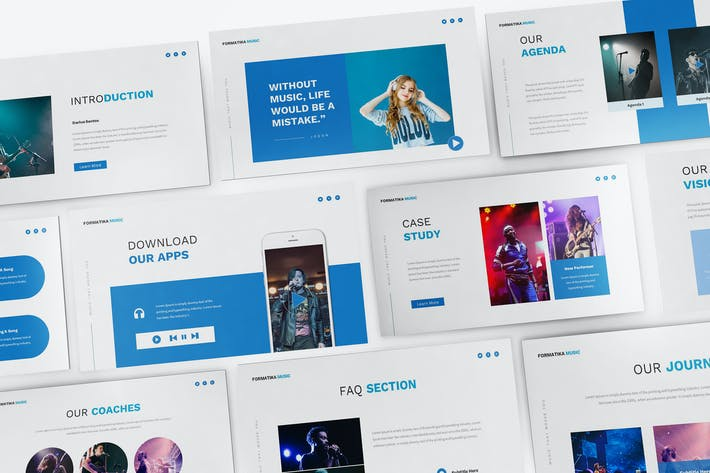 Thumbnail for Music Powerpoint Presentation Template