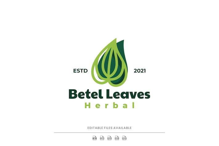Logo Simple Feuille de Betel