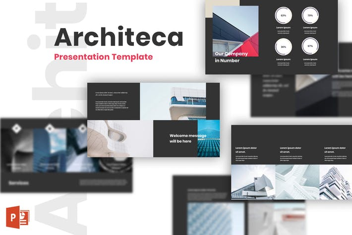 Thumbnail for Architeca - Architecture PowerPoint Templates