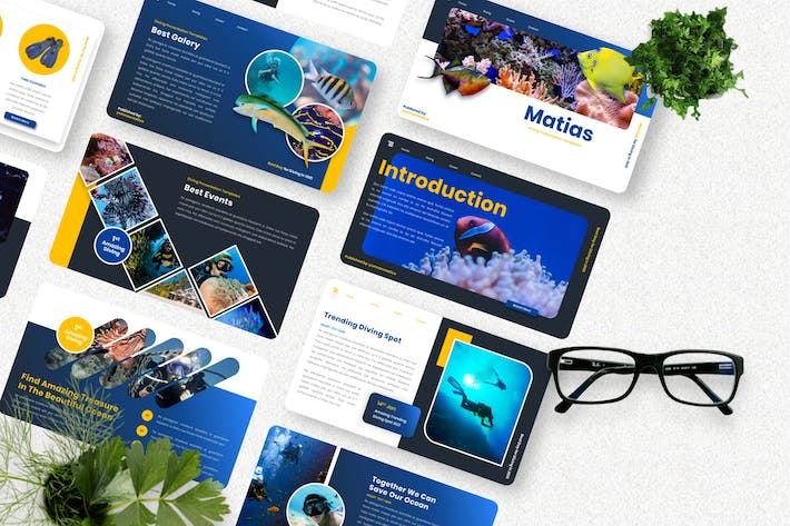 Matias - Diving Sport Keynote Template