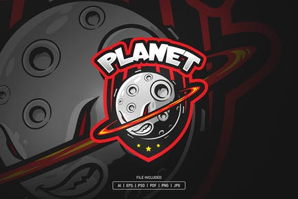Planet esport logo template