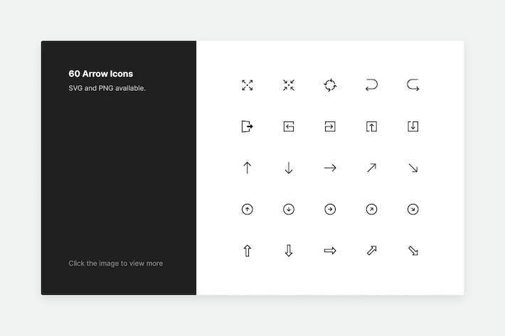 Arrow Icons - Line style