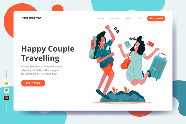 Thumbnail for Happy Couple Travelling - Landing Page