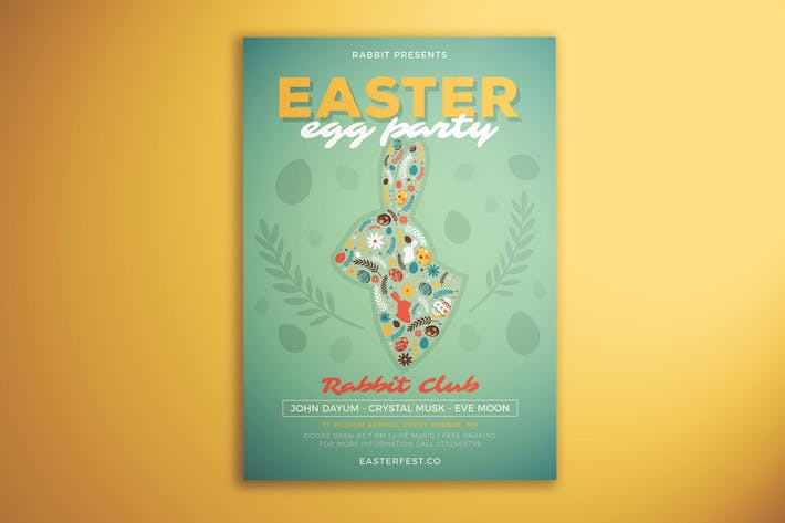 Cover Image For Easter Egg Party Flyer