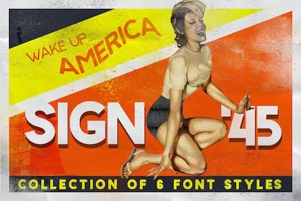Sign 45 Tipo de letra