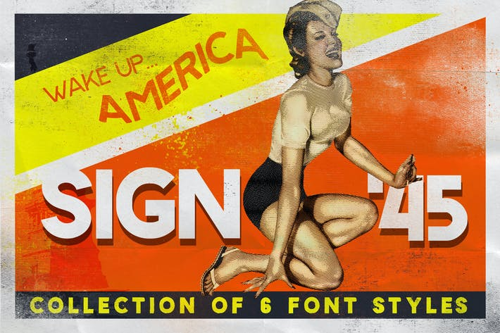 Thumbnail for Sign 45 Typeface
