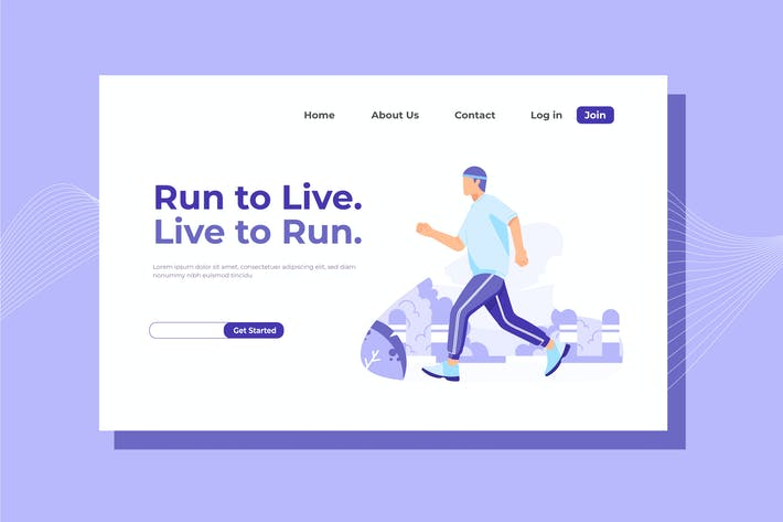 Thumbnail for Run to Live Landing Page Illustration