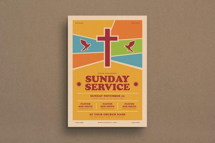 Thumbnail for dépliant sur les événements du service du dimanche