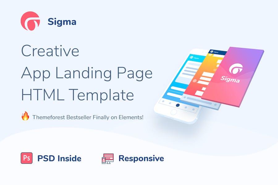 Sigma — HTML-Vorlage für App-Landingpage