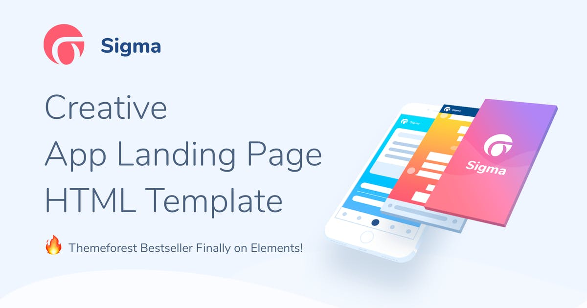 Download Sigma — App Landing Page HTML Template by Aspirity