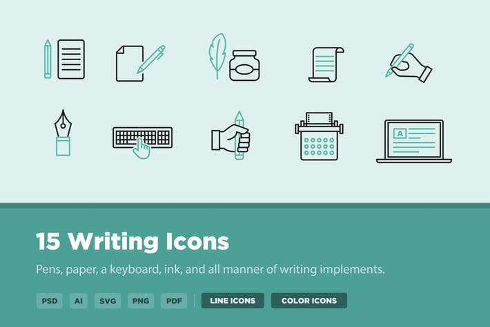 Thumbnail for 15 Writing Icons
