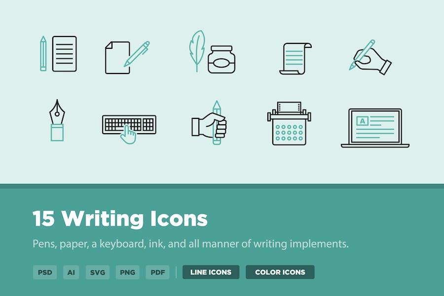 15 Writing Icons