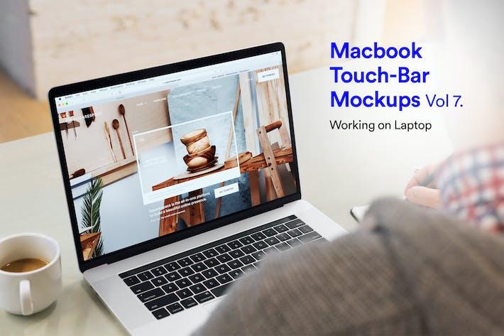 Thumbnail for Computer Mockups Vol 07 - Working