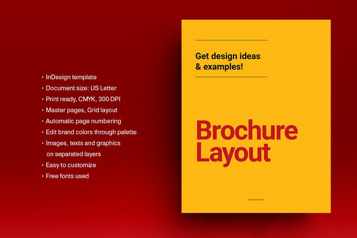 Thumbnail for Yellow and Red Brochure Template