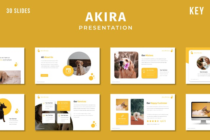 Thumbnail for Akira - Pet Care Keynote Template
