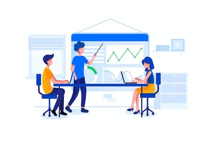 Thumbnail for Digital Product Manager Vektor illustration
