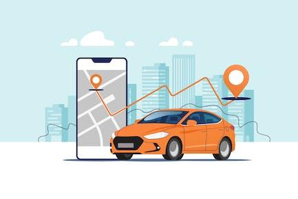 Stadtautonavigation
