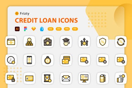 Fristy - Credit Loan Icons