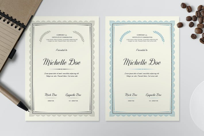 Thumbnail for Certificate Template I
