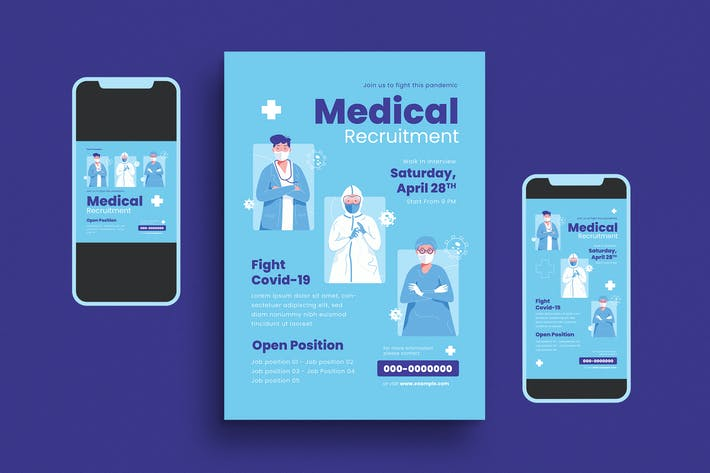 Medical Recruit Flyer Set