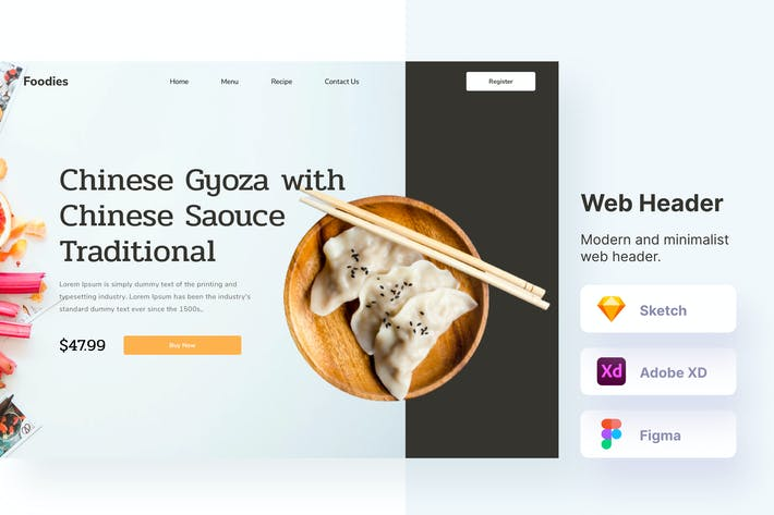 Food-Header Webseite